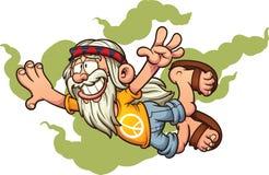 Hippie dos desenhos animados do voo ilustração do vetor