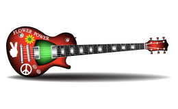 Hippie electric guitar Royalty Free Stock Image