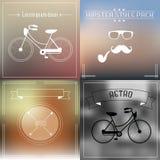 Hippie-Element- und -ikonensammlung mit Weinlese und Retrostil stock abbildung