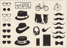 Hippie-Element-Vektor-Satz von 26 Lizenzfreie Stockfotos
