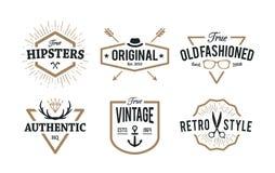 Hippie-Embleme stock abbildung