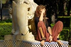 Hippie en el sol Imagen de archivo libre de regalías