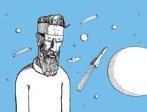 Hippie et espace image stock