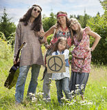 Hippie family with Stock Image