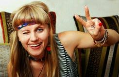 Hippie feliz Imagens de Stock Royalty Free