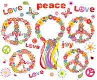 Hippie flowers wreath Royalty Free Stock Image