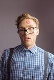 Hippie Geeky couvert dans les baisers Photo libre de droits