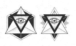 Hippie-Gestaltungselemente stock abbildung