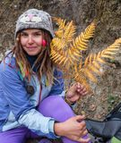 Hippie girl Stock Photos
