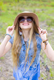 Hippie girl Stock Photography