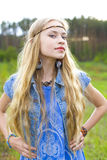 Hippie girl Stock Photos
