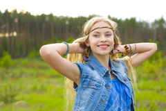Hippie girl Royalty Free Stock Images