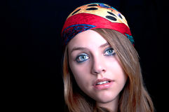Hippie girl with scarf Royalty Free Stock Image