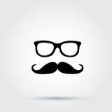 Hippie-Gläser und -schnurrbart vektor abbildung