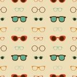Hippie-Glas-Vektor-nahtloses Muster Stockbilder