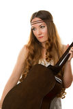 Hippie with a guitar Royalty Free Stock Photos