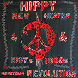 Hippie - hand drawn vector Stock Photo