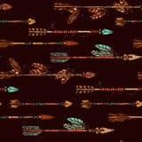 Hippie-Hand gezeichnetes Pfeil-Muster Lizenzfreie Stockbilder