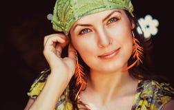 Hippie hermoso de la mujer joven Fotos de archivo