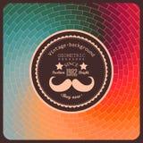Hippie-Hintergrund gemacht von den Dreiecken. Retro- Aufkleberdesign. Quadrat Lizenzfreie Stockfotos