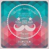 Hippie-Hintergrund gemacht von den Dreiecken Retro Kennsatzauslegung quadrat Lizenzfreies Stockbild