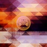 Hippie-Hintergrund gemacht von den Dreiecken Retro Kennsatzauslegung Quadratische Zusammensetzung mit geometrischen Formen, Farbf stockbild