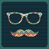 Hippie-Ikone mit geometrischem Schmutz-Hintergrund Lizenzfreies Stockbild