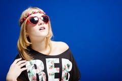 Hippie-Jugendlichmädchen Stockbilder