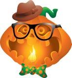 Hippie-Kürbis Halloween Lizenzfreies Stockfoto