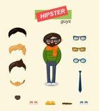 Hippie-Kerlmodesatz Stockbilder