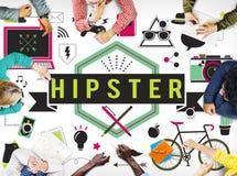 Hippie-Lebensstil-Art-Retro- Indie Konzept vektor abbildung