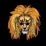 Hippie Lion Color Lizenzfreies Stockfoto