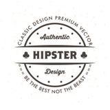 Hippie Logo Design Template Vector de vintage illustration de vecteur