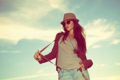 Hippie-Mädchen Lizenzfreie Stockfotos