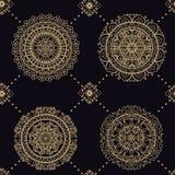 Hippie mandala pattern Royalty Free Stock Image