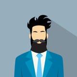 Hippie masculin d'avatar d'icône de profil d'homme d'affaires Photos stock