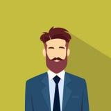 Hippie masculin d'avatar d'icône de profil d'homme d'affaires Images libres de droits