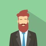 Hippie masculin d'avatar d'icône de profil d'homme d'affaires Image libre de droits