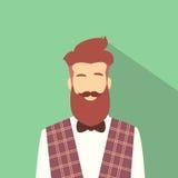 Hippie masculin d'avatar d'icône de profil d'homme d'affaires Image stock