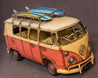 Hippie micro bus Royalty Free Stock Images