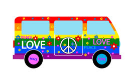 Hippie minibus Royalty Free Stock Images