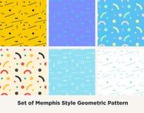 Hippie-Mode Memphis Style Geometric Pattern Lizenzfreies Stockfoto