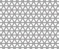 Hippie-Modekissen-Dreieckgitter der abstrakten Geometrie Schwarzweiss- Lizenzfreies Stockfoto