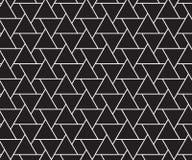 Hippie-Modekissen triangl der abstrakten Geometrie Schwarzweiss- Lizenzfreie Stockfotos