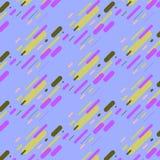 Hippie-Modememphis-Musterverzierung mit blauer gelber weißer Linie auf rosa Hintergrund stock abbildung