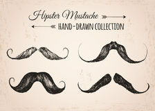 Hippie-Modeweinleseelemente von Hand gezeichnet Lizenzfreie Stockfotos