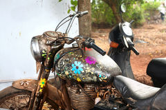 Hippie motorcycle Stock Images