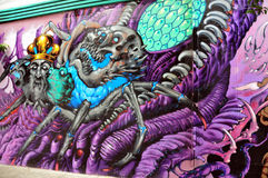 Hippie mural in Haight Hasbury in San Francisco Royalty Free Stock Image