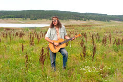 Hippie musiciant Royalty Free Stock Photography