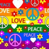 Hippie naadloos patroon Royalty-vrije Stock Afbeeldingen